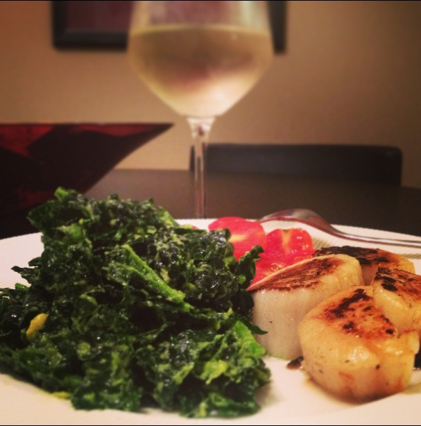 Scallops and Kale Salad