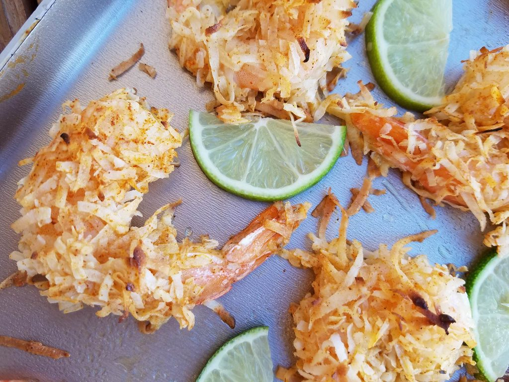 Coconut Shrimp with Citrus Salsa » The Four Percent
