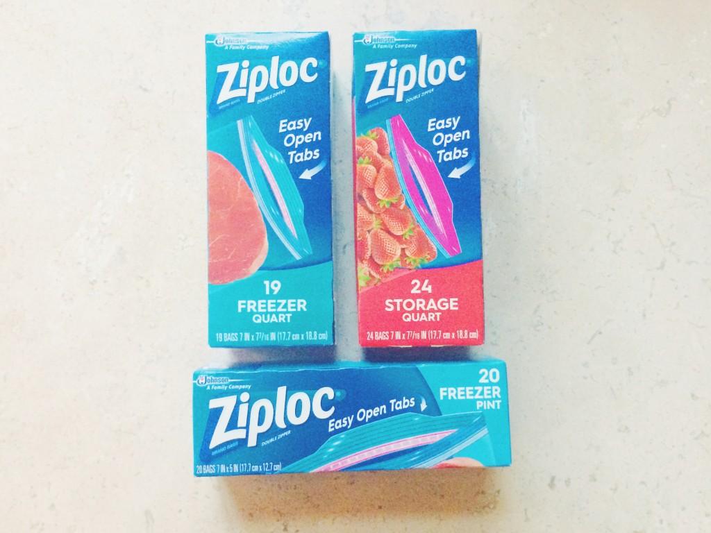 Food Prep Made Easy Open Ziploc Bag