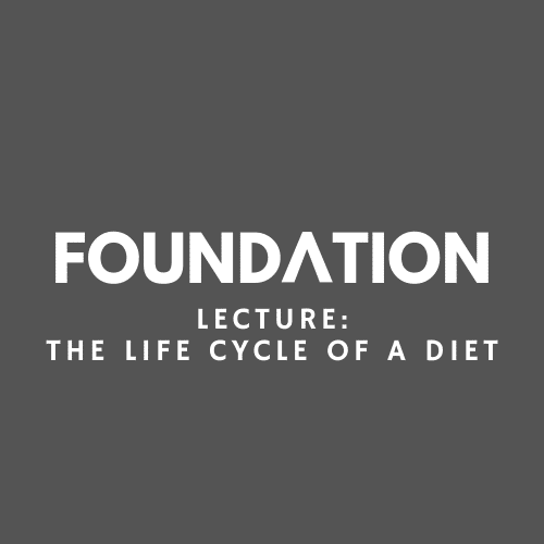 Lecture - The Life Cycle of a Diet
